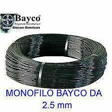Monofilo Bayco da 2.5mm nero in matassa da 100 mt per tirantare antenne tralicci