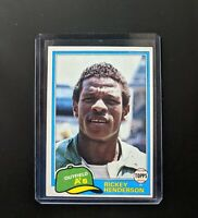 1981 Topps #261 Rickey Henderson 2nd Year Baseball Card Oakland Athletics NM-MT