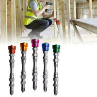 5x Colored Magnetic Coil Set Screwdriver Screw Extractor Remover Cross Drill Bit