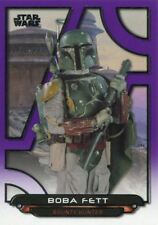 Star Wars Galactic Files 2018 Purple [99] Base Card ROTJ-26 Boba Fett