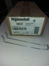 100 Doppelhaken L20cm für Tegometall Lochwand Schlaufenhaken Tego SB Haken