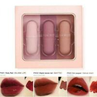 3pcs Mini Capsule Lip Glaze Mirror Matte Velvet Mirror Glass Lip Gloss Q0P0
