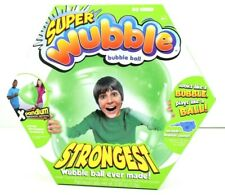 SUPER WUBBLE Bubble Ball Power Green , Strongest, With Pump, Indoor Outdoor Fun