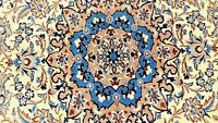 Nain Authentic Certified Hand-Knotted Wool and Silk Rug (122 cm x 218 cm)