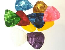 10 x Acoustic / Electric Guitar picks Thin flexible beginners plectrum (UK Shop)