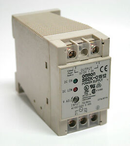 Class 2 Power Supply OMRON S82K 01512 15W 0.45A 100-240VAC Output 12VDC 1.2A