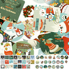 2016 New 1 box 46 PCS for diary Cards Greeting stickers Merry Christmas Labels