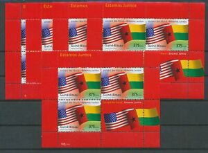[P893] Guine Bissau 2002 United We Stand good sheets very fine MNH (5x)