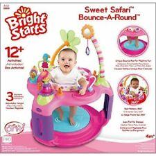 Bright Starts Sweet Safari Child Pink Bounce-A-Round Activity Center