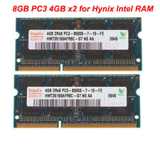 Hynix 8GB RAM 2x 4 GB 2Rx8 PC3-8500 SODIMM DDR3-1066Mhz Memory Laptop Kit 1.5V