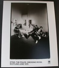 Sting The Police Photo Original AM Records Promo June 1979