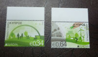 2016 CYPRUS THINK GREEN SET OF 2 MINT STAMPS MNH