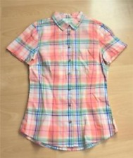 BNWOTLadies H&M Short Sleeved Checked Blouse - Size 4