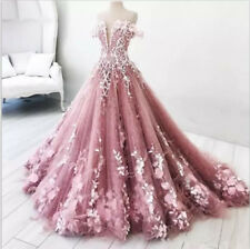 Gorgeous 3D Floral Lace Ball Quinceanera Dress Sweet 16 Birthday Party New Gown