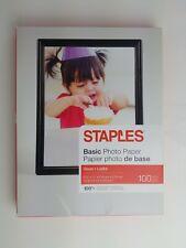 "Staples Basic Glossy Photo Paper 8.5"" x 11"" 100/Pack NOB"