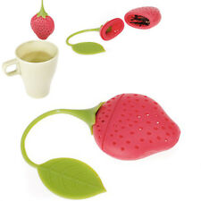 Strawberry Design Silicone Tea Infuser Strainer For Teapot Teacup  Red& Green LW