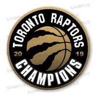 Toronto Raptors 2019 Champions Round Precision Cut Decal