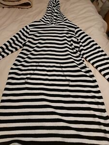 Next Girls Towelling Stripey hooded Dress Age 13 Yrs