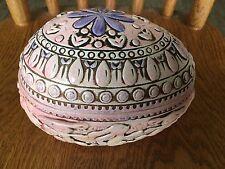 Vintage 70s Dancing Bunnies Pink/Purple Plastic Easter Egg Container Girlie
