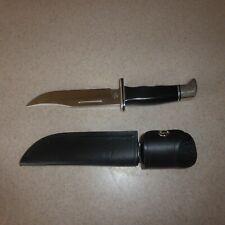 Buck 119 Hunting Knife Excellent Black Handle Sheath Case