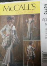 Steampunk SEWING PATTERN, jacket bustle skirt, M6770, Victorian 4-6-8-10