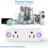 WiFi Smart Socket 2 Plug Voice Control Outlet Switch Timer for Alexa Google Home