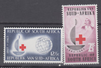 PP274 - RSA SOUTH AFRICA 1963 100TH ANNIVERSARY RED CROSS 2V MNH