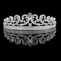 Crystal Princess Kate Tiara Wedding Bridal Crown Hair Accessory
