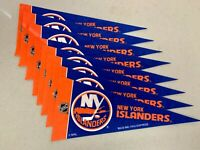 "(8x) New York Islanders NHL Hockey 4""x9"" Vibrant Mini Team Logo Pennant Decor"