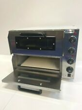 """More details for quantum commercial baking oven fire stone electric pizza oven 2 x 16"""" twin deck"""