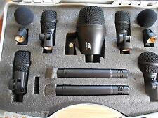 Gatt Audio 7 x Drum Mic Microphone Kit Set  Pack Kick,Snare,3 xTom,2 x Overheads
