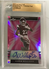 AERIS WILLIAMS 2019 LEAF METAL DRAFT PRE-PRODUCTION ROOKIE AUTO SLABBED 1/1