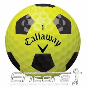 10 Callaway Chrome Soft Truvis Golf Ball Black And Yellow PEARL / A Grade