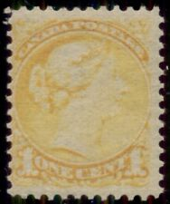 CANADA #35, 1¢ yellow, og, NH, VF, Miller certificate, Scott $180.00