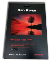 2.46 ft. .75m AudioQuest Red River RCA Male to RCA Male Cables - 2-Pack