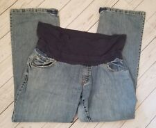 OND Old Navy Size XL Maternity Denim Jeans Rollover Boot Cut Stretch