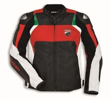 DUCATI CORSE  MOTORBIKE RACING LEATHER JACKET CE APPROVED