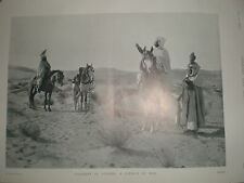 Printed photo Falconry in Algeria A Council of War by Emil Frechon 1901 ref Y3