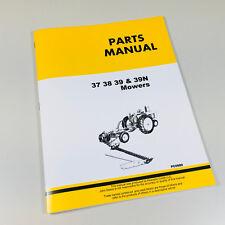Parts Manual Catalog For John Deere 37 38 39 39n Mower Sickle Bar Hay Book
