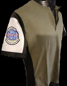 Chris Redfield Resident Evil Custom Cosplay Shirt Embroidered Patches Large