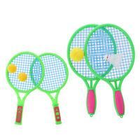Protable Tennis Badminton Racket Set with Ball Outdoor Plastic Toys Playset