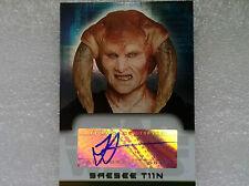 STAR WARS 2006 EVOLUTION - SAESEE TINN AUTOGRAPH CARD - JESSE JENSEN
