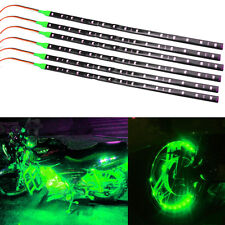 6pcs Green 1Ft/15 SMD LED Car Motors Truck Flexible Strip Light Waterproof 12V