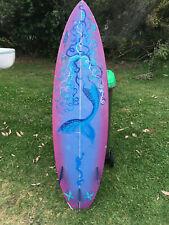 """Mermaid Sky Neil Cormack shaped surfboard  approx 6' 2"""" X 19"""" x 2 3/8"""""""
