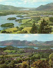 Cumbria ,Lake district x2 Derwentwater and Keswick unposted 1960's/70's'