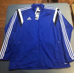 NWT Adidas ClimaCool Blue 3-Stripe Full Zip Track Jacket Men's XL