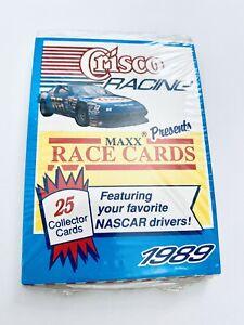 1989 MAXX Crisco NASCAR Factory Sealed 25 card set