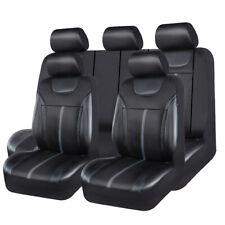 Universal Car Seat Cover Leather Mesh Black Grey Waterproof 60/40 50/50 40/20/40