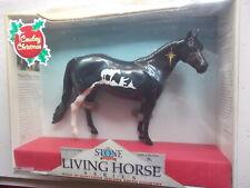 2002 Peter Stone Cowboy Christmas Living Horse Series Black Decorator Ish Nos