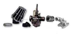 Kit Carburateur 17,5 Black  filtre + Pipe admission PEUGEOT Buxy trekker 50 2t